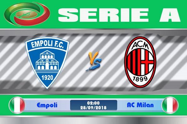 Nhận định Empoli vs AC Milan, 02h00 ngày 28/9: Giải Vô Địch Ý