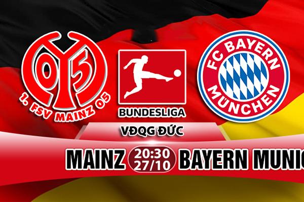 Nhận định Mainz vs Bayern Munich 20h30 27/10 : Vòng 9 Bundesliga