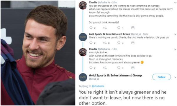 Lý do Ramsey rời bỏ Arsenal