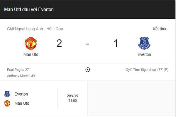 Man Utd thắng Everton 2 – 1 : Bộ đôi ngôi sao người Pháp lập công