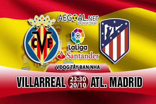 Nhận định Villarreal vs Atletico 23h30 20/10 : Đánh chìm tàu ngầm vàng