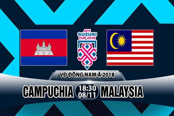 Nhận định Campuchia vs Malaysia, 18h30 ngày 08/11: AFF Cup 2018 – A