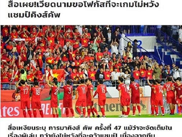 """Tin bóng đá Việt Nam 11/4: Báo Thái """"bóc mẽ"""" đội tuyển Việt Nam tại King's Cup"""