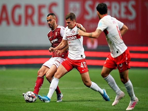 Nhận định bóng đá Spartak Moscow vs Braga (00h15 ngày 30/8)