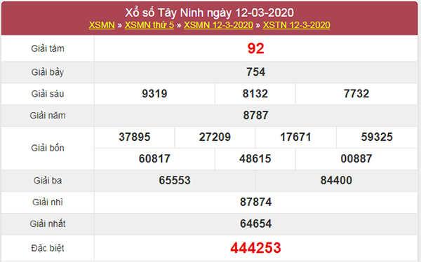 Soi cầu XSTN ngày 19/3/2020 – KQXS Tây Ninh thứ 5