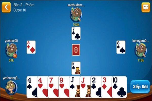 Mỗi người chơi sẽ được chia 9 lá bài