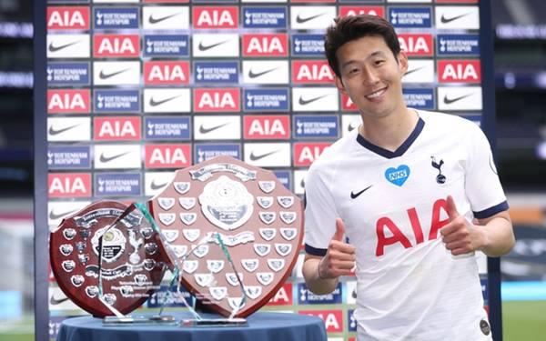 """Tin bóng đá ngày 20/7 : Son Heung-min """"ẵm"""" trọn các giải thưởng của Tottenham."""