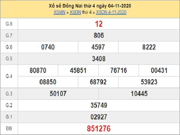 Soi cầu XSDN ngày 11/11/2020- xổ số đồng nai chi tiết