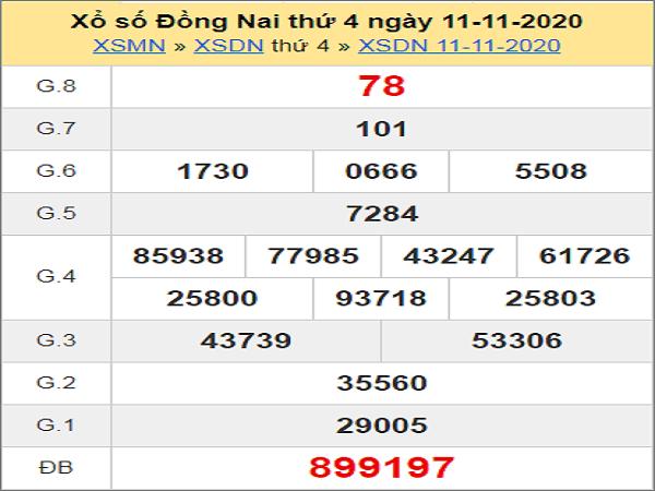Soi cầu XSDN 18/11/2020, soi cầu xổ số Đồng Nai hôm nay