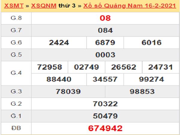 Soi cầu XSQNM 23/2/2021, chốt số dự đoán đài Quảng Nam