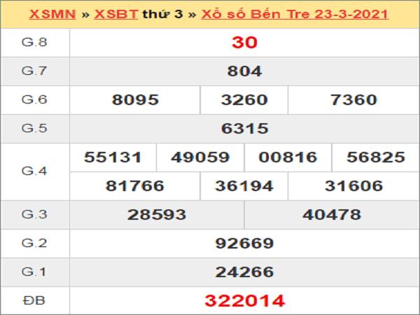 Soi cầu XSBTR 30/3/2021, soi cầu xổ số Bến Tre hôm nay