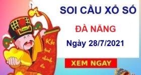 Soi cầu XSDNG ngày 28/7/2021 chốt số Đà Nẵng thứ 4