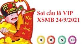 Soi cầu lô VIP KQXSMB 24/9/2021 hôm nay