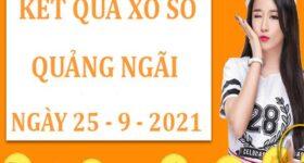 Soi cầu kết quả sổ số Quảng Ngãi thứ 7 ngày 25/9/2021