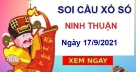 Soi cầu xổ số Ninh Thuận ngày 17/9/2021 hôm nay thứ 6