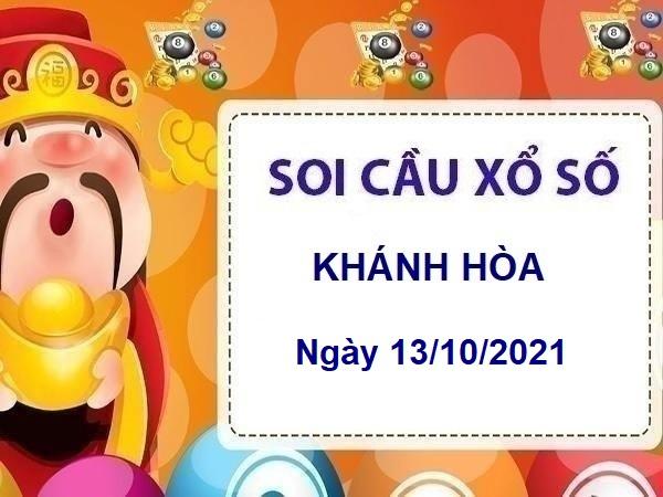 Soi cầu xổ số Khánh Hòa ngày 13/10/2021 chốt KQ Khánh Hòa